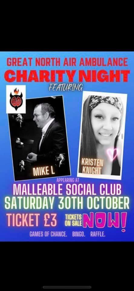 Charity Night 30th October